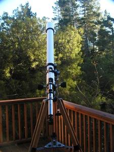 The venerable Tasco 7T-E (f/16.7) on its native mount.