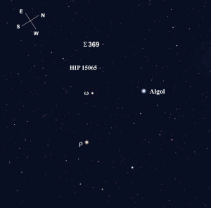 (Stellarium screen image with labels added, click for a larger view).
