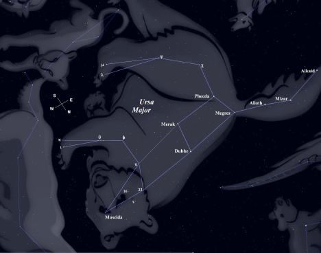 (Stellarium screen image, click on the bear to enlarge the view).
