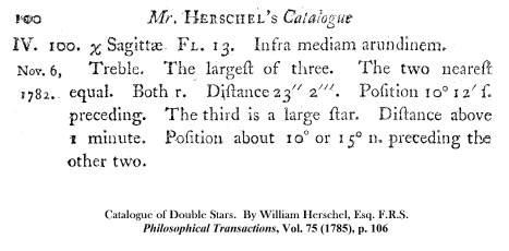 Wm. Herschel on H IV 100