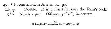 Wm. Herschel on 30 Arieta