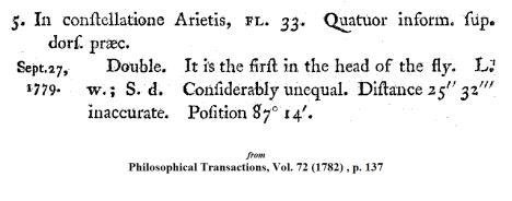 Wm. Herschel on 33 Arietis