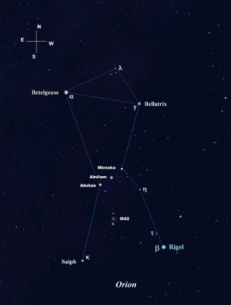 You'll find Rigel and Tau (τ) holding down the southwest corner of Orion.  (Stellarium screen image with labels added).