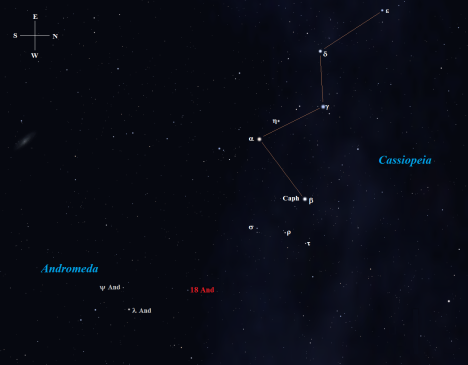 Stellarium screen image again with additional labeling, click to enlarge.