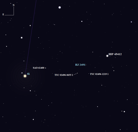 Stellarium screen image, click to enlarge.